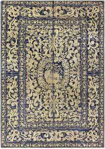 blue antique balkan embroidery textile 709 Nazmiyal