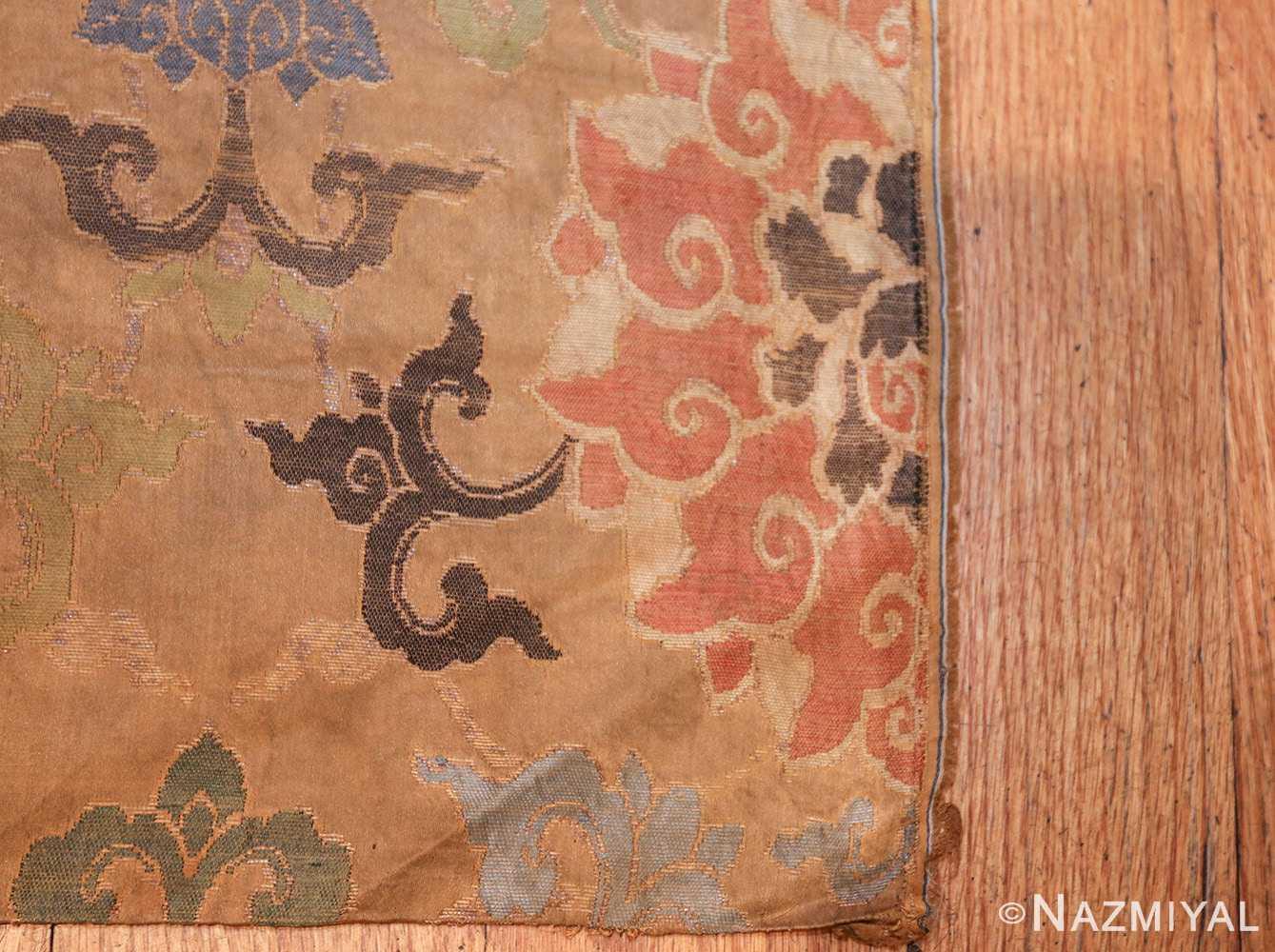 antique 17th century ming dynasty silk chinese textile 40494 corner Nazmiyal