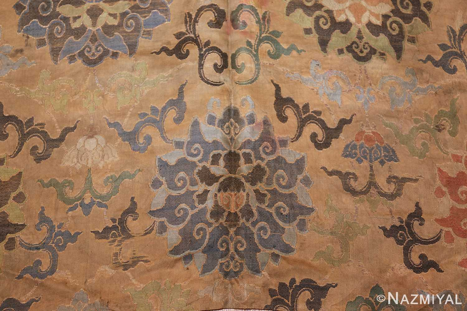antique 17th century ming dynasty silk chinese textile 40494 flowers Nazmiyal