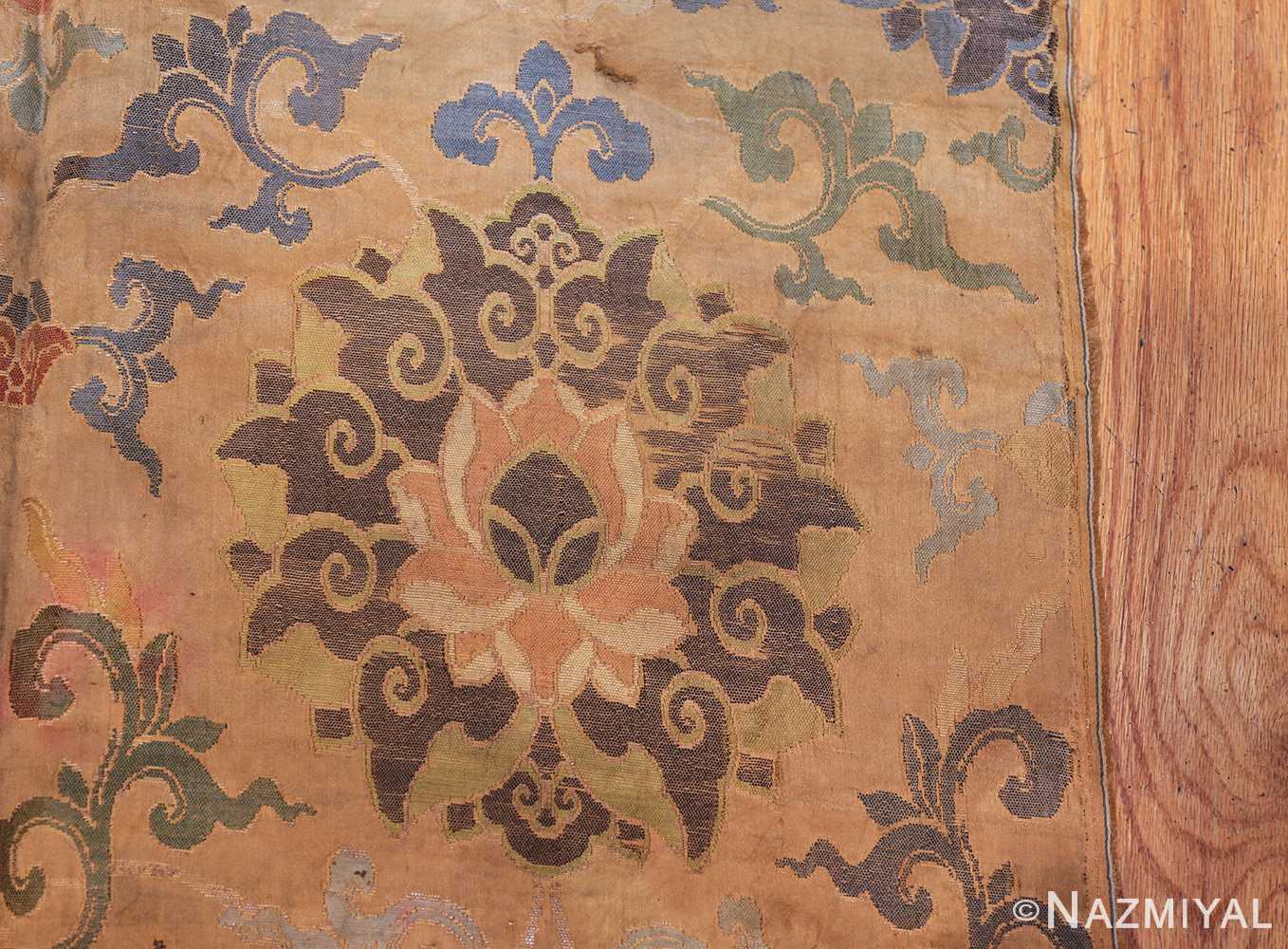 antique 17th century ming dynasty silk chinese textile 40494 side Nazmiyal
