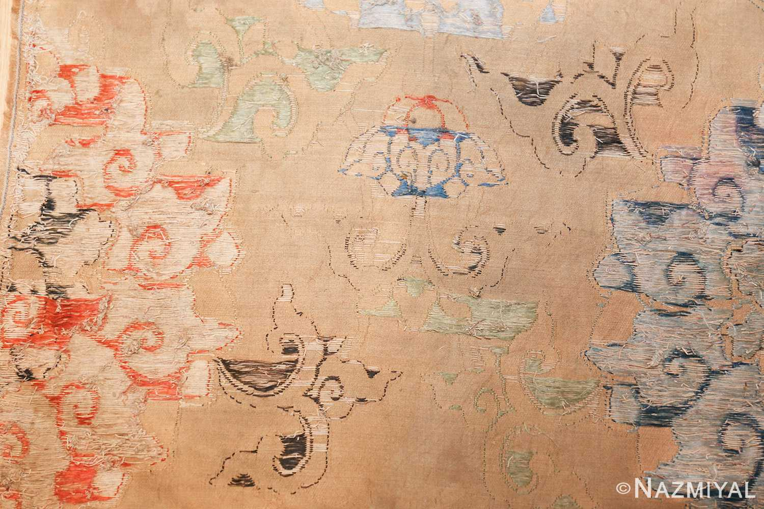 antique 17th century ming dynasty silk chinese textile 40494 weave Nazmiyal