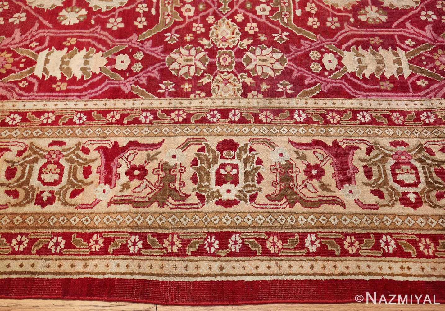 antique room size indian amritsar rug 1891 border Nazmiyal