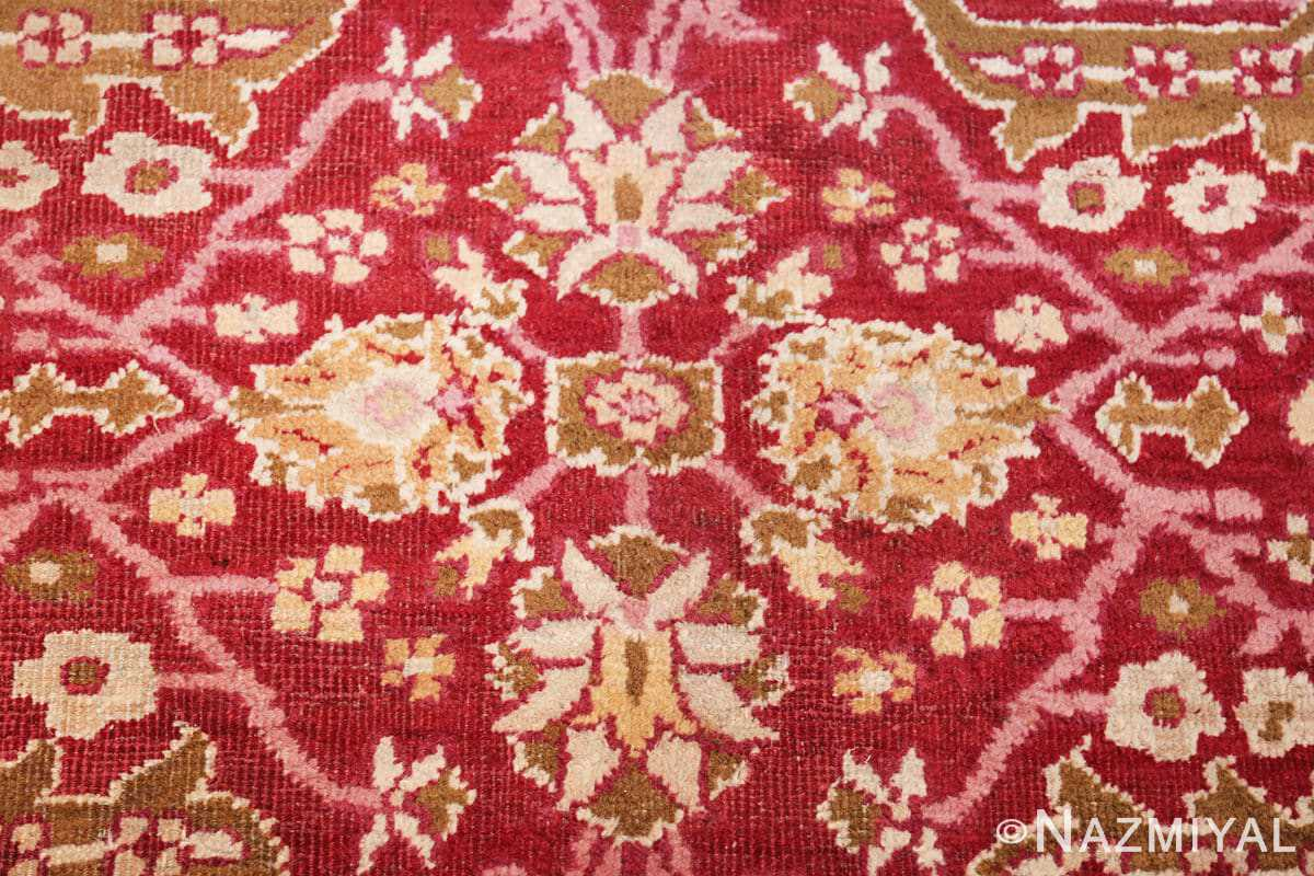 antique room size indian amritsar rug 1891 center Nazmiyal
