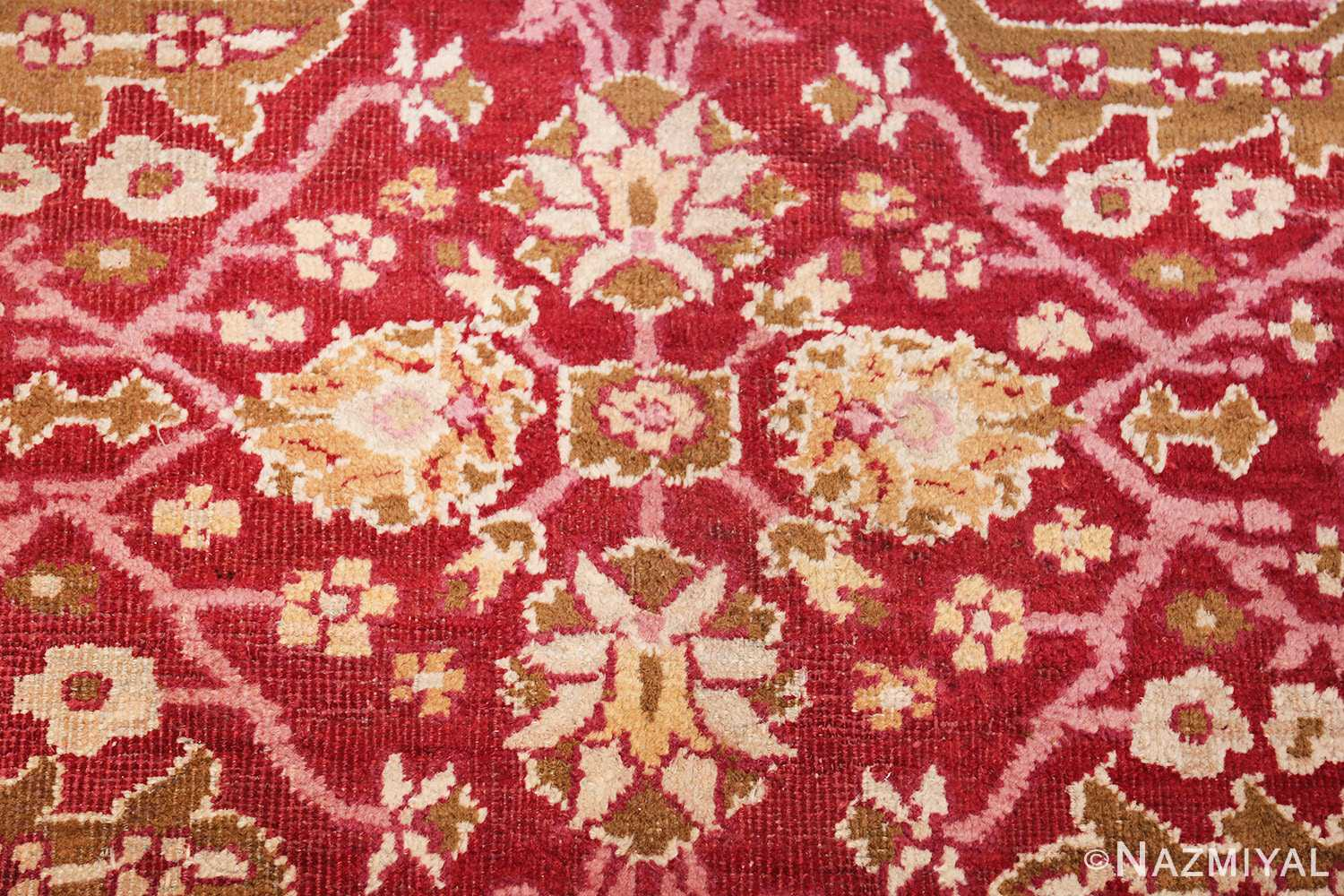 antique room size indian amritsar rug 1891 center Nazmiyal