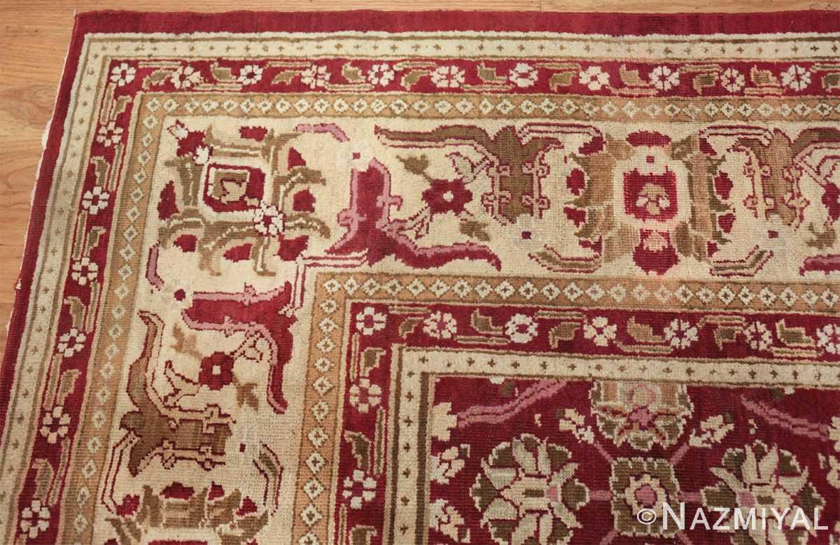 antique room size indian amritsar rug 1891 corner Nazmiyal