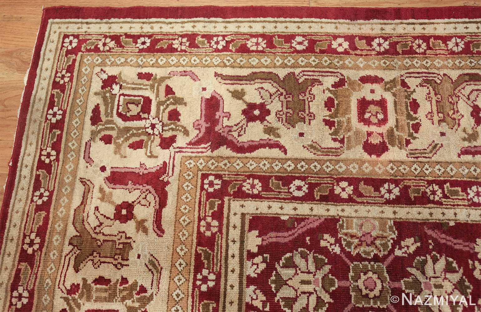 antique room size indian amritsar rug 1891 corner Nazmiyal