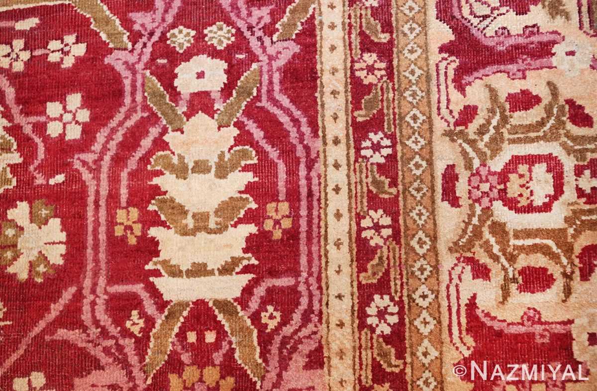 antique room size indian amritsar rug 1891 design Nazmiyal
