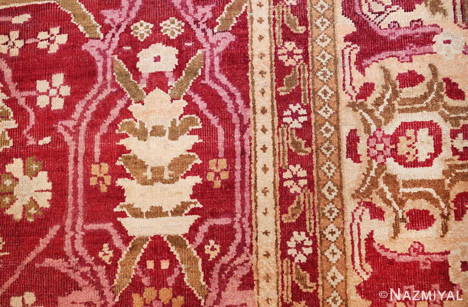 antique room size indian amritsar rug 1891 design Nazmiyal