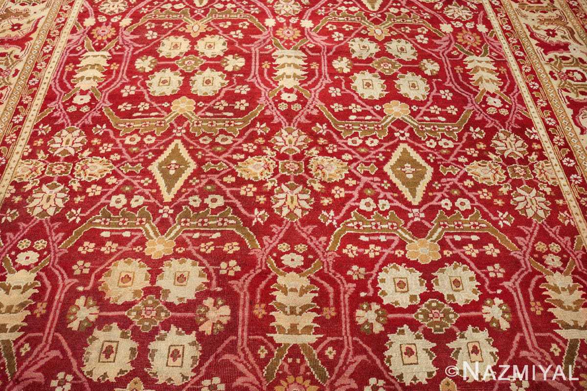 antique room size indian amritsar rug 1891 field Nazmiyal