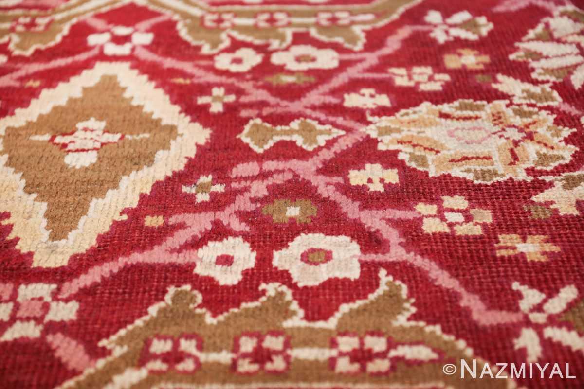 antique room size indian amritsar rug 1891 flowers Nazmiyal