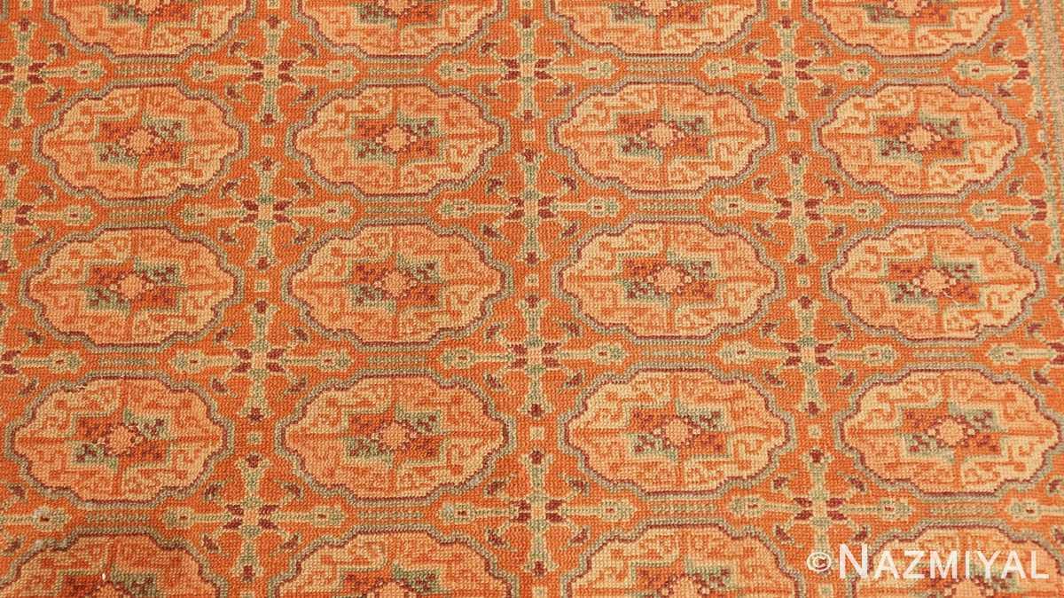 Close-up Antique Bezalel rug from Jerusalem Israel 41270 by Nazmiyal