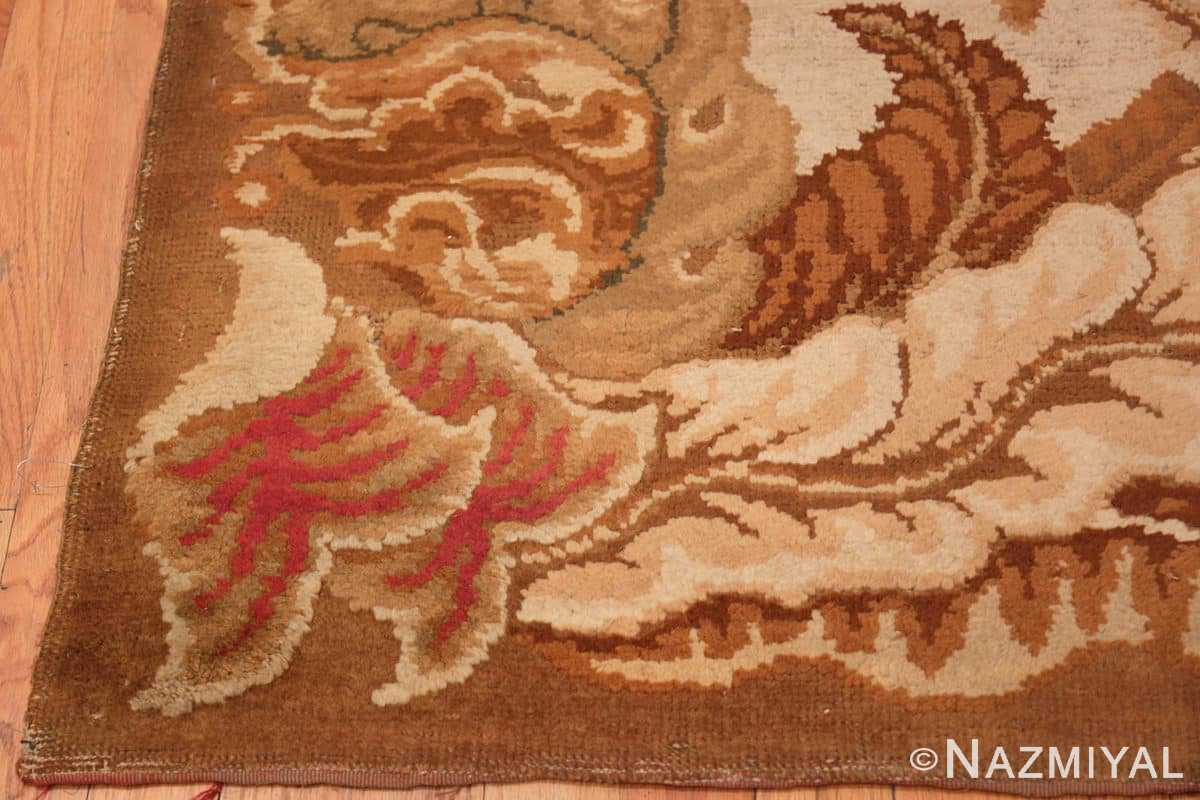 Corner English Axminter Antique rug 2891 by Nazmiyal