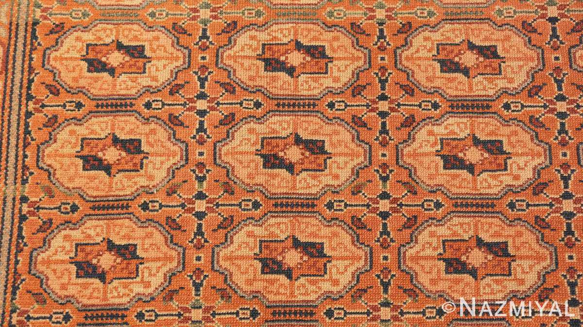 Detail Antique Bezalel rug from Jerusalem Israel 41270 by Nazmiyal