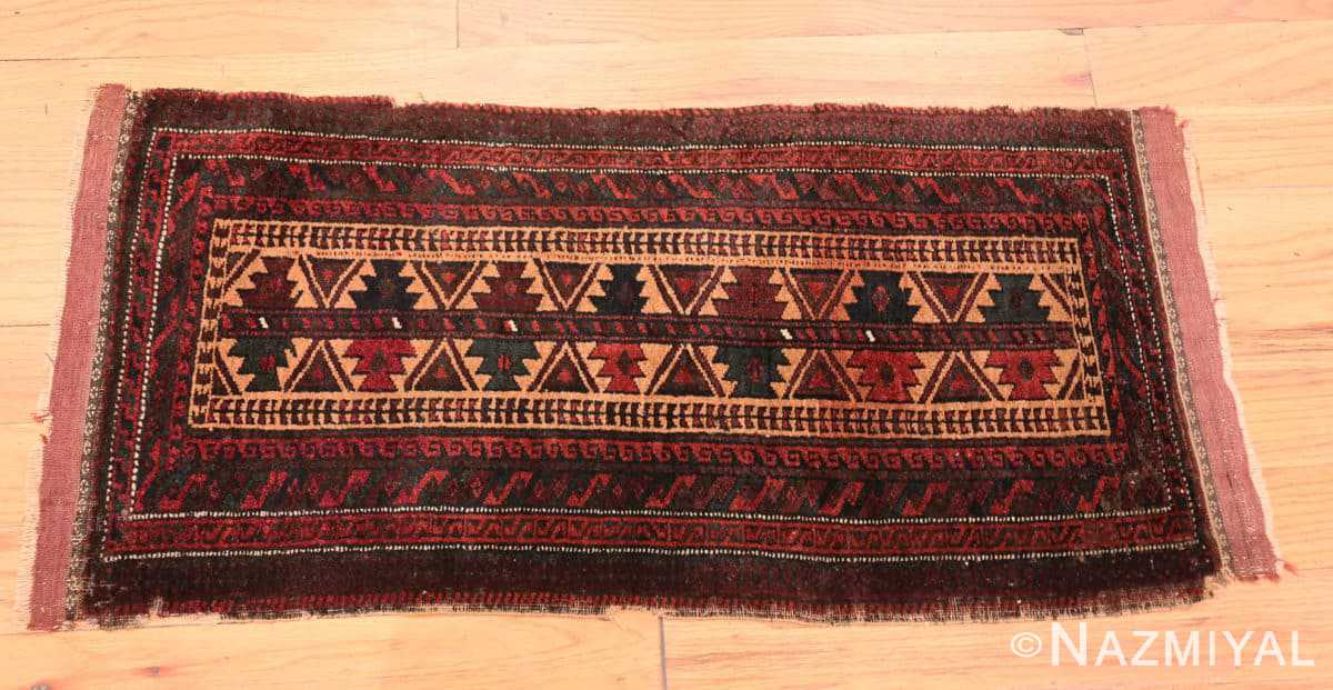 Full Small scatter size Antique Persian Baluch rug 2529 by Nazmiyal