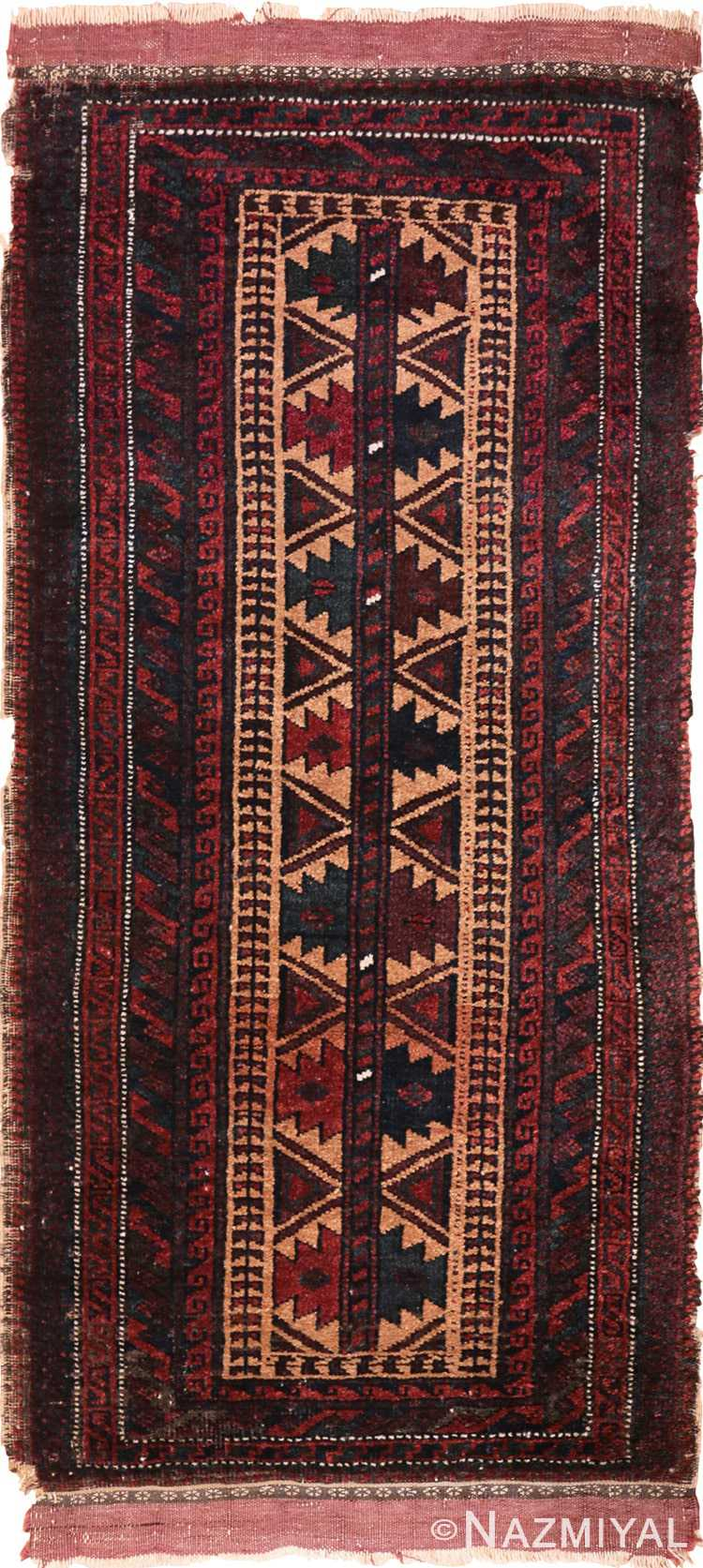 Full view Small Scatter size Antique Persian Baluch rug 2529 by Nazmiyal