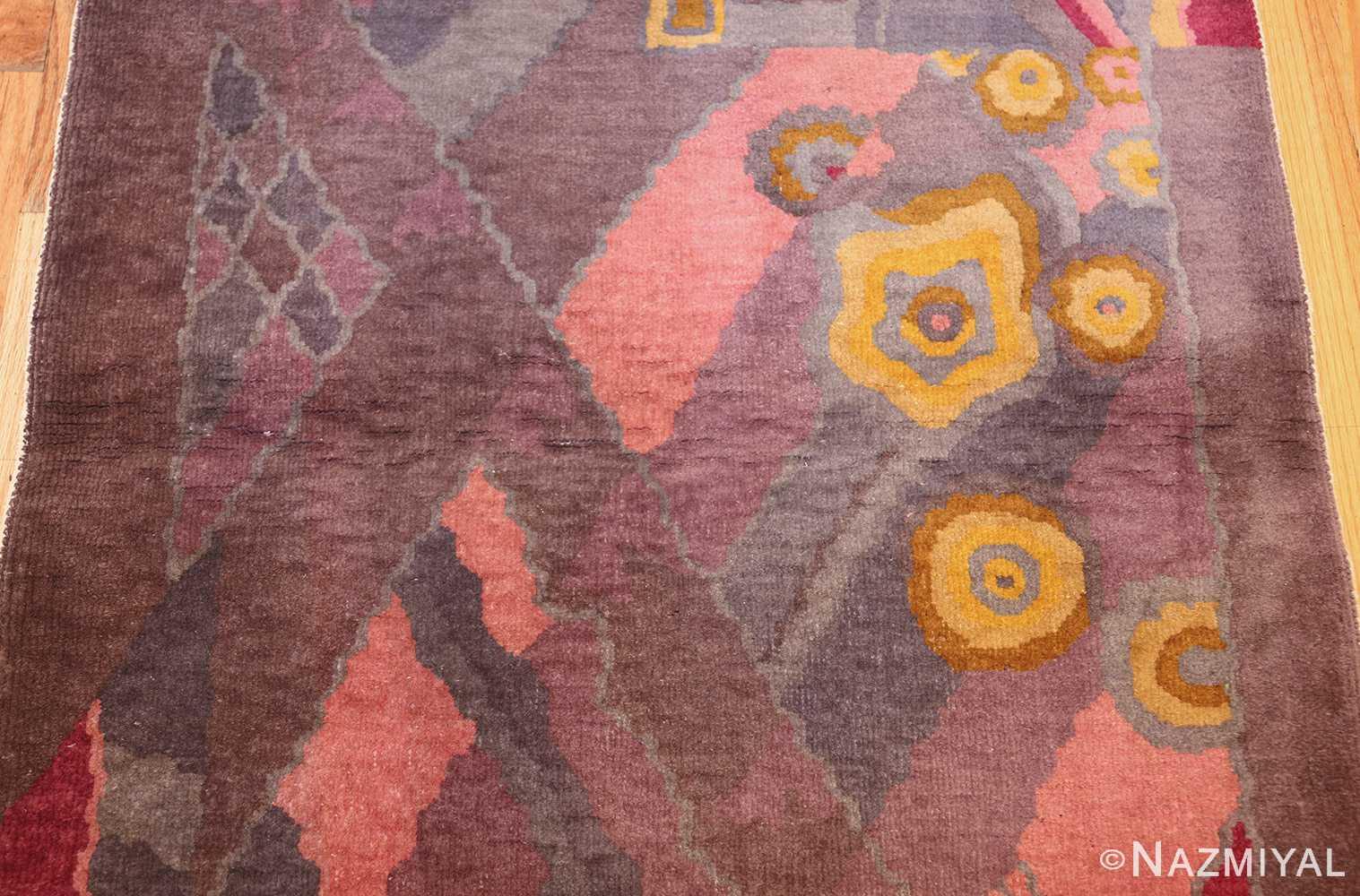 small geometric vintage chinese art deco rug 418 field Nazmiyal