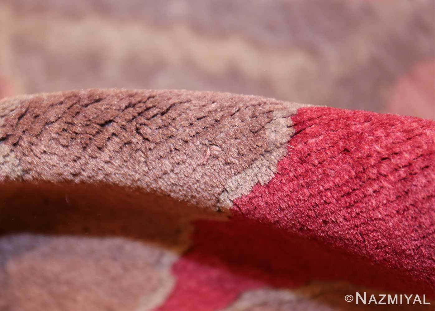 small geometric vintage chinese art deco rug 418 pile Nazmiyal