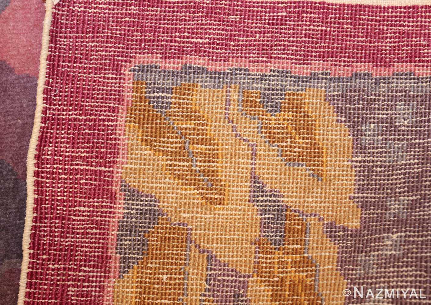 small geometric vintage chinese art deco rug 418 weave Nazmiyal