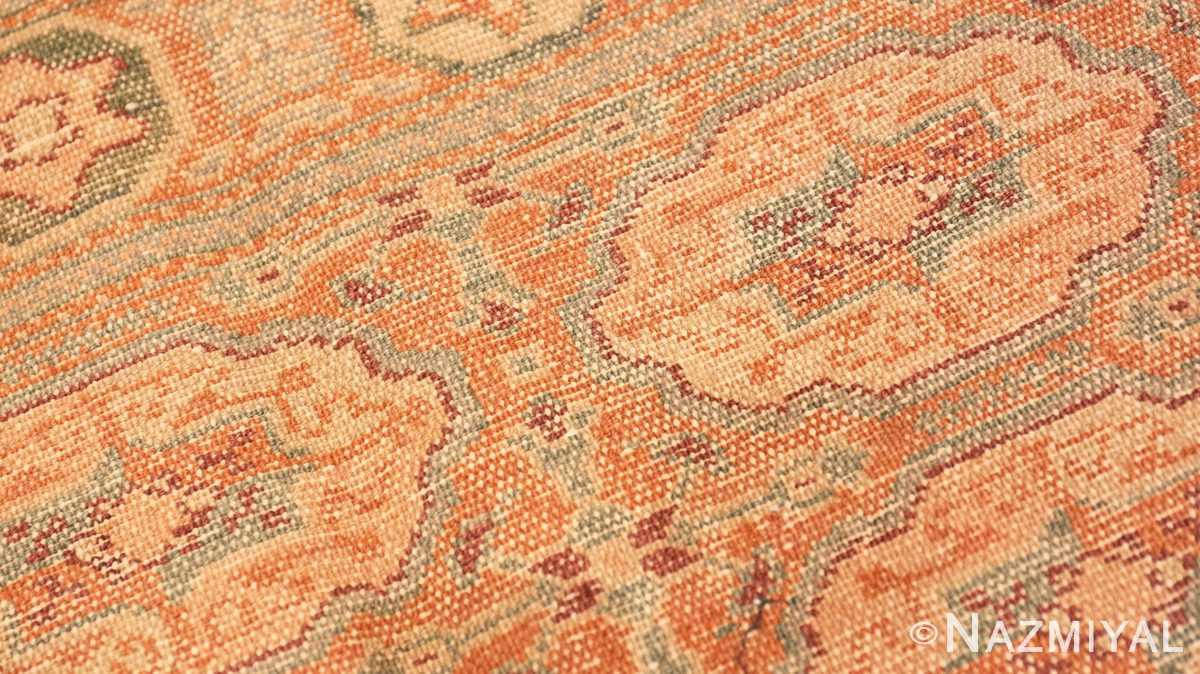 Weave detail Antique Bezalel rug from Jerusalem Israel 41270 by Nazmiyal