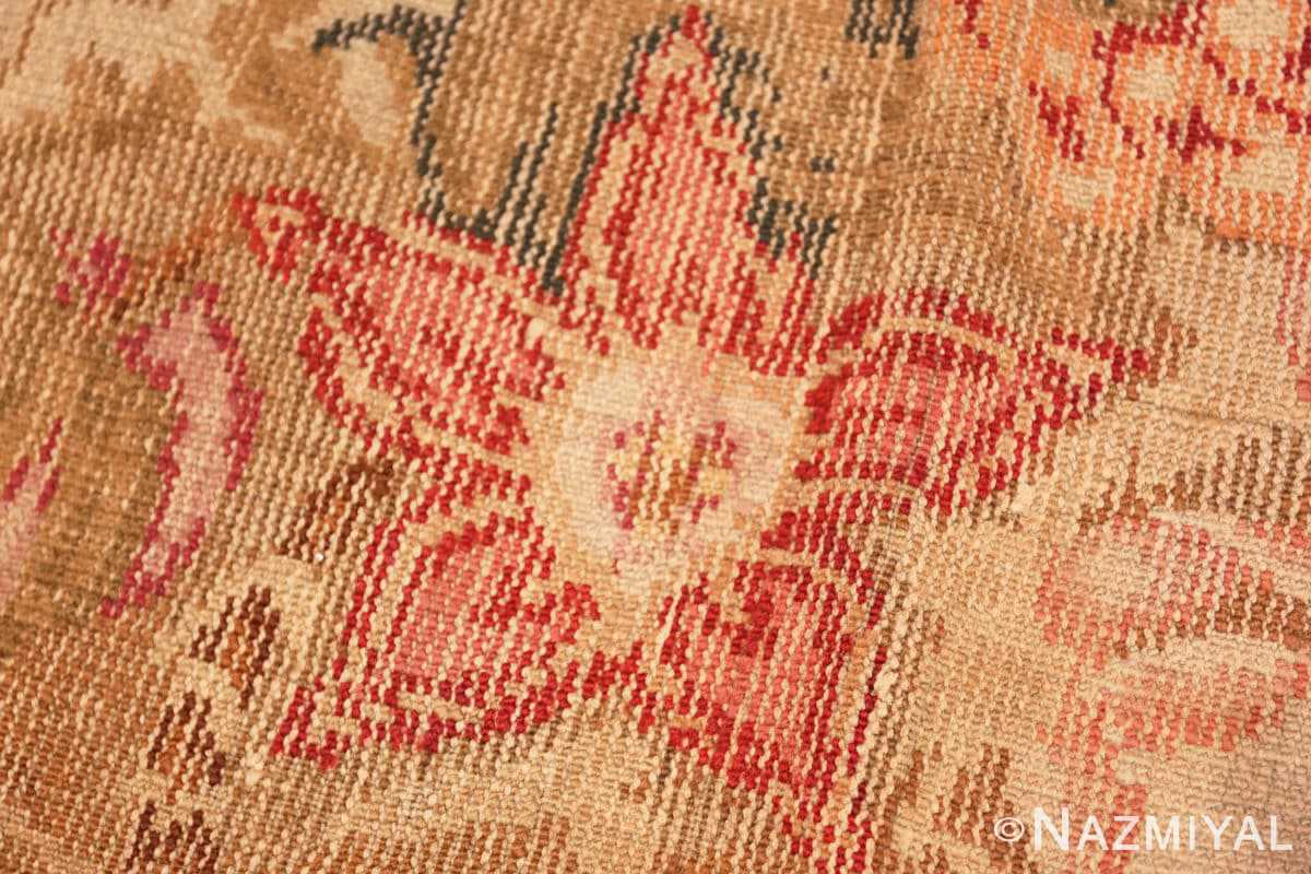 Weave detail English Axminter Antique rug 2891 by Nazmiyal