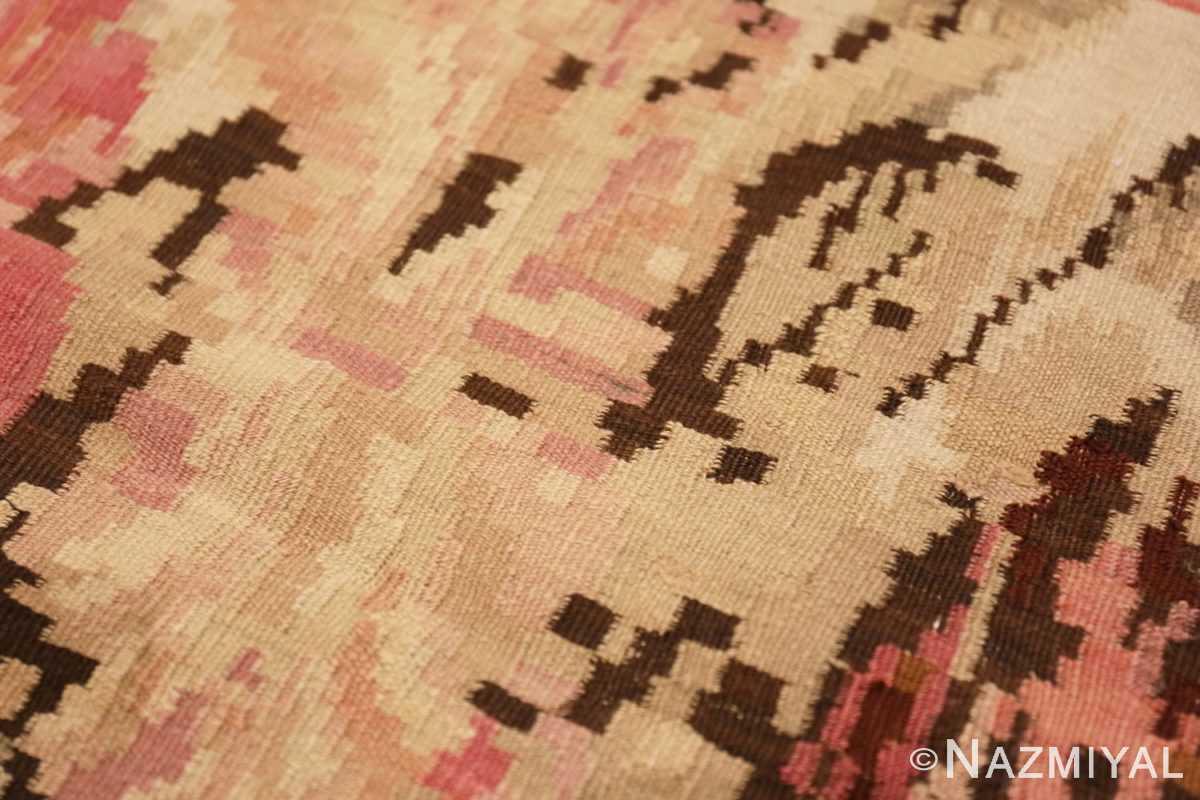 Weave detail square Antique Romanian Bessarabian Kilim rug 41272 by Nazmiyal