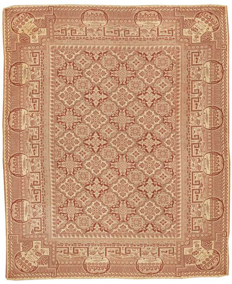 Antique Ingrain American Rug 2755 by Nazmiyal