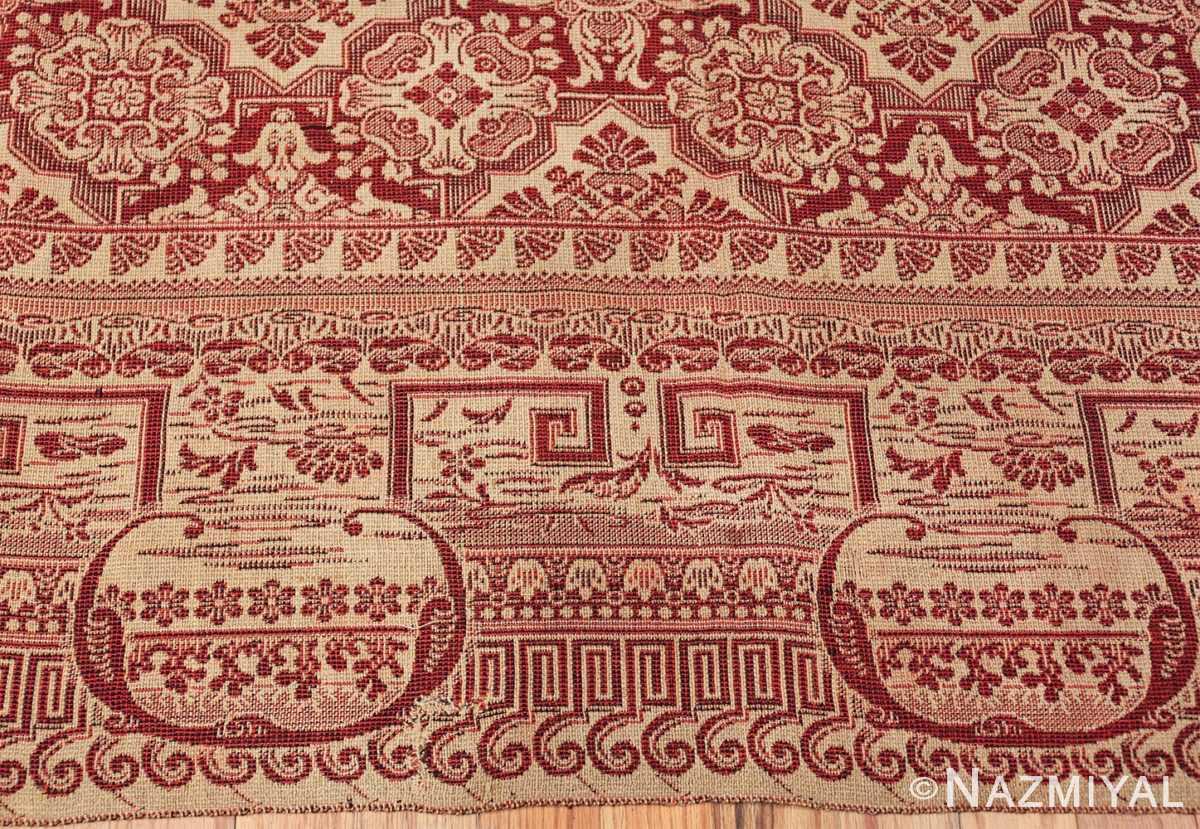 antique american flat woven ingrain rug 2755 border Nazmiyal