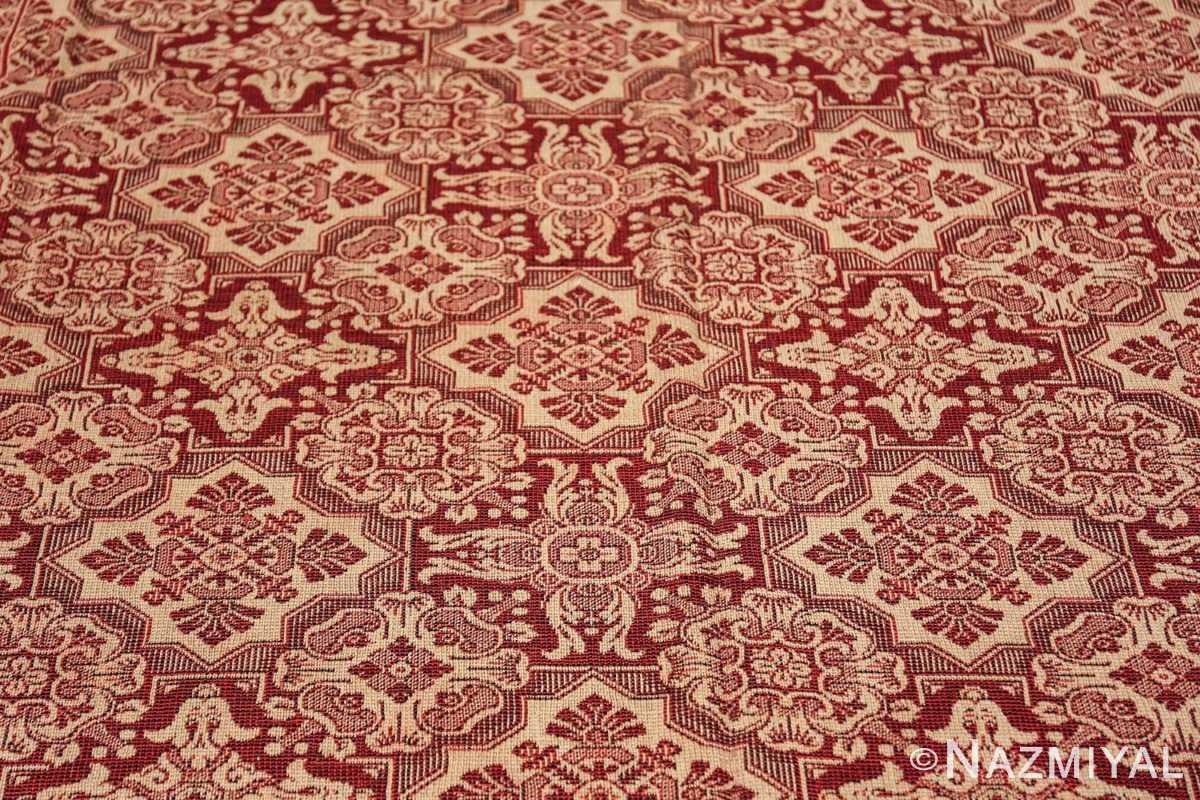 antique american flat woven ingrain rug 2755 closeup Nazmiyal