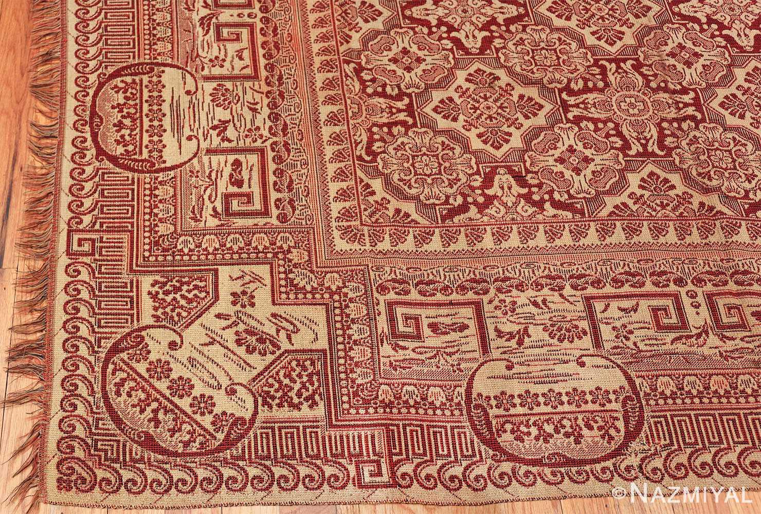 antique american flat woven ingrain rug 2755 corner Nazmiyal