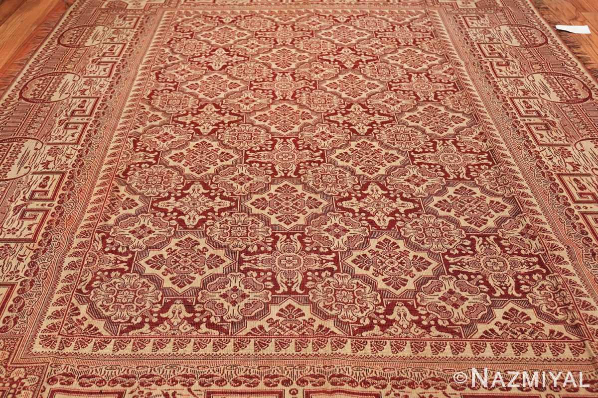 antique american flat woven ingrain rug 2755 field Nazmiyal