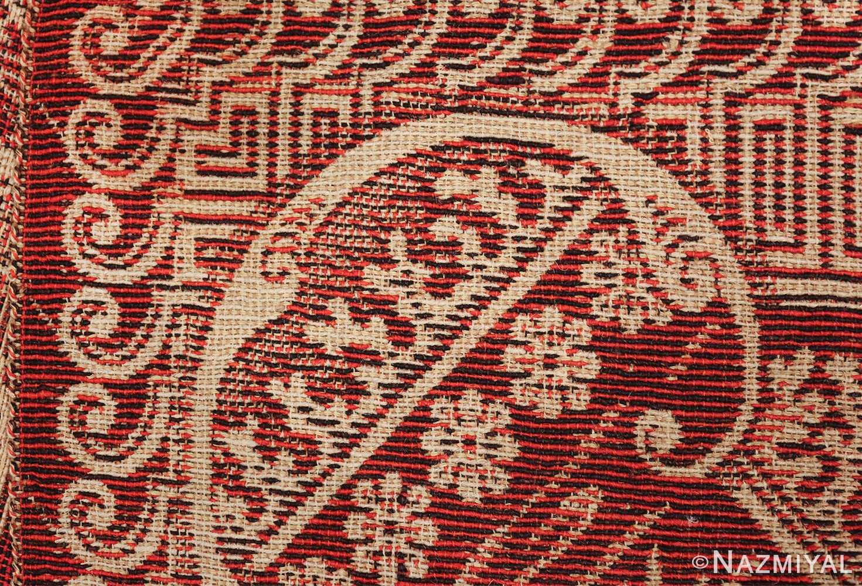 antique american flat woven ingrain rug 2755 knots Nazmiyal