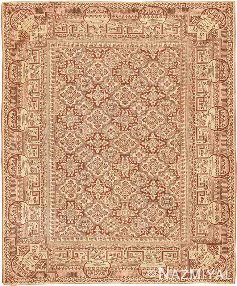 Antique American Flat Woven Ingrain Rug 2755 Nazmiyal Antique Rugs