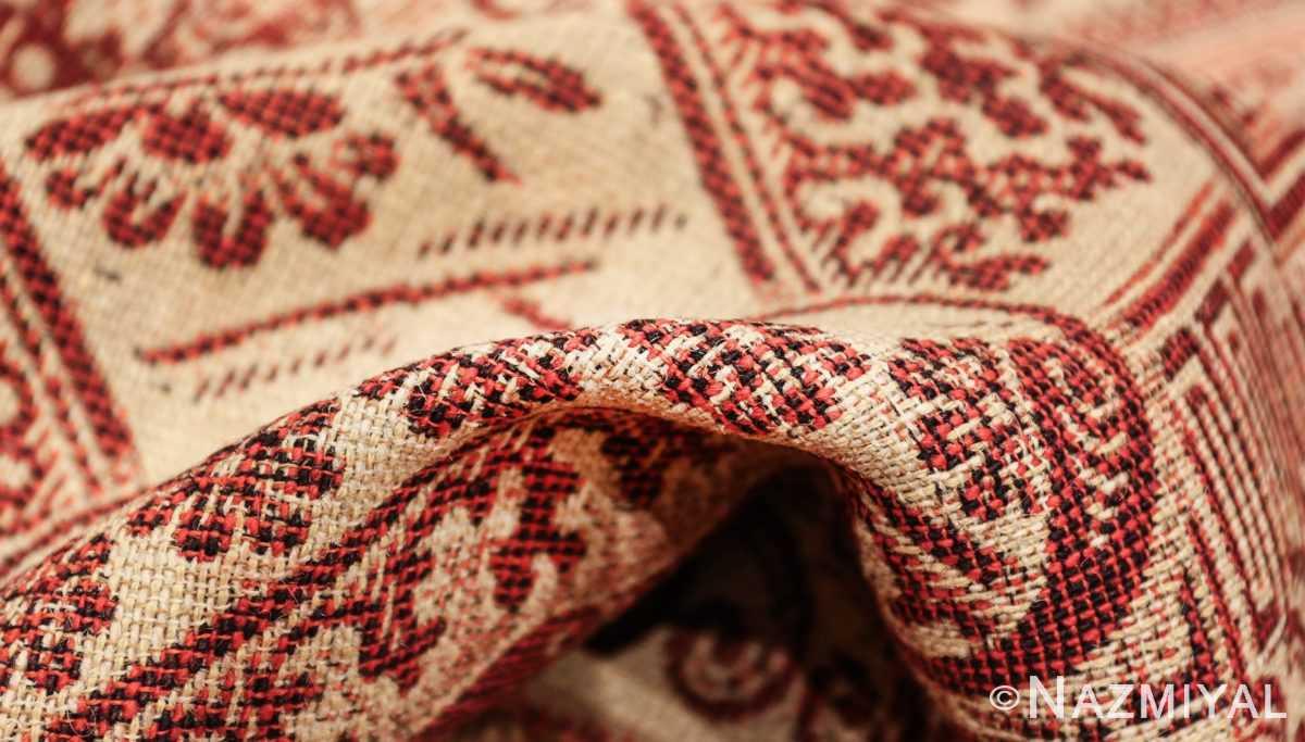 antique american flat woven ingrain rug 2755 pile Nazmiyal