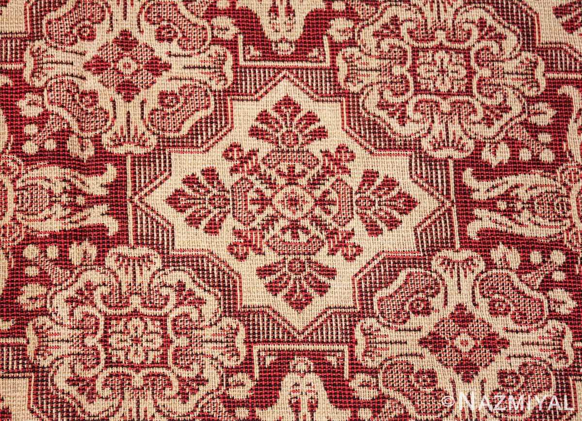 antique american flat woven ingrain rug 2755 square Nazmiyal