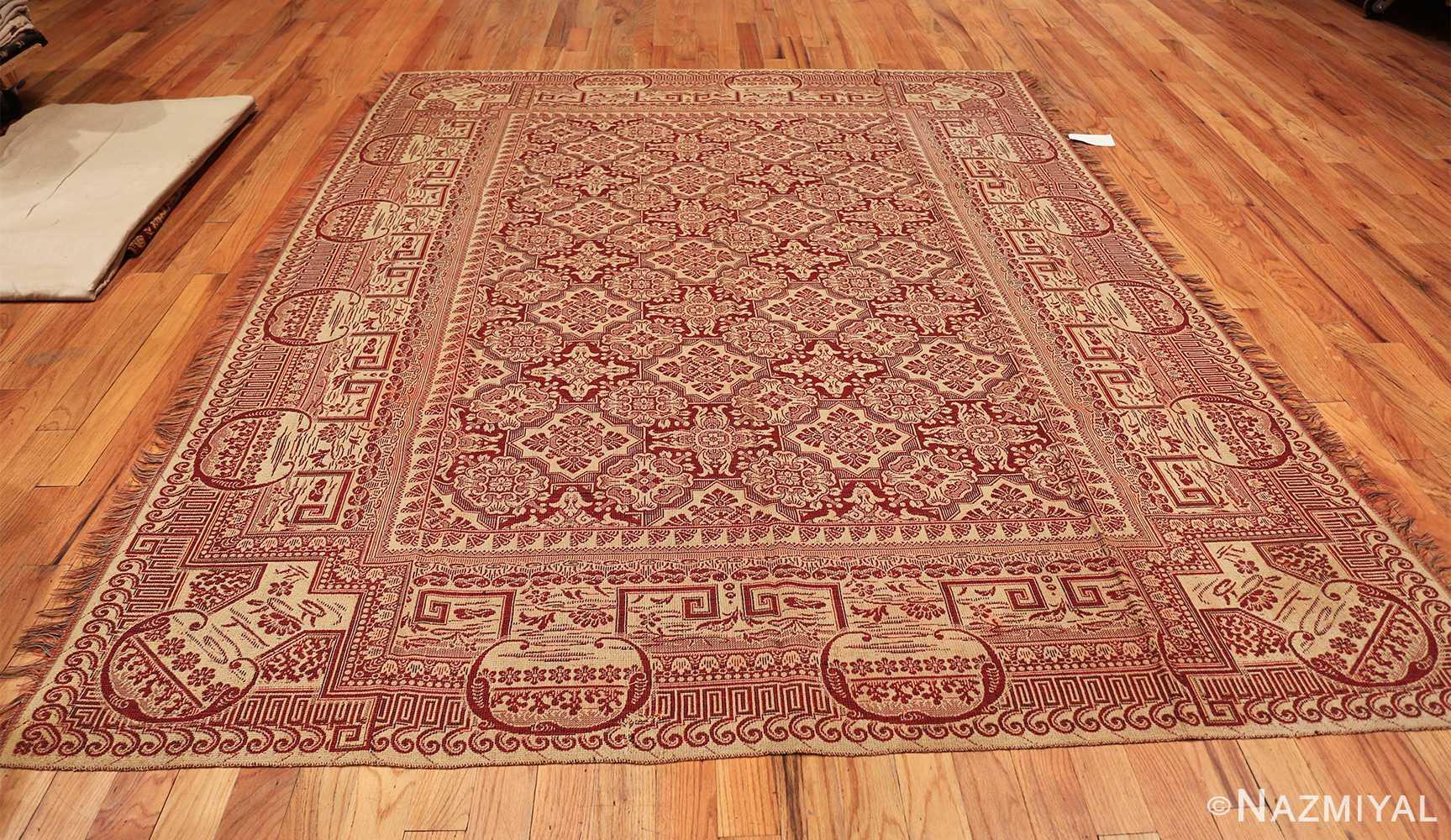 antique american flat woven ingrain rug 2755 whole Nazmiyal