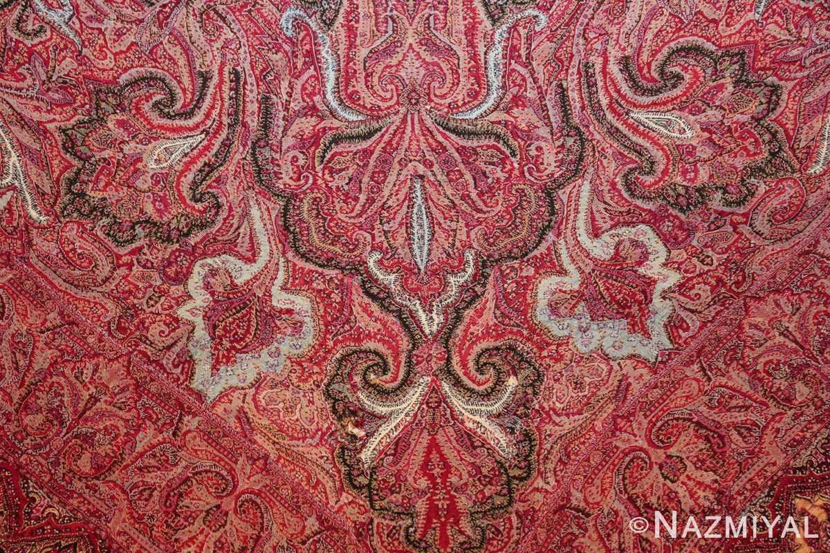 beautiful antique indian shawl 41481 closeup Nazmiyal