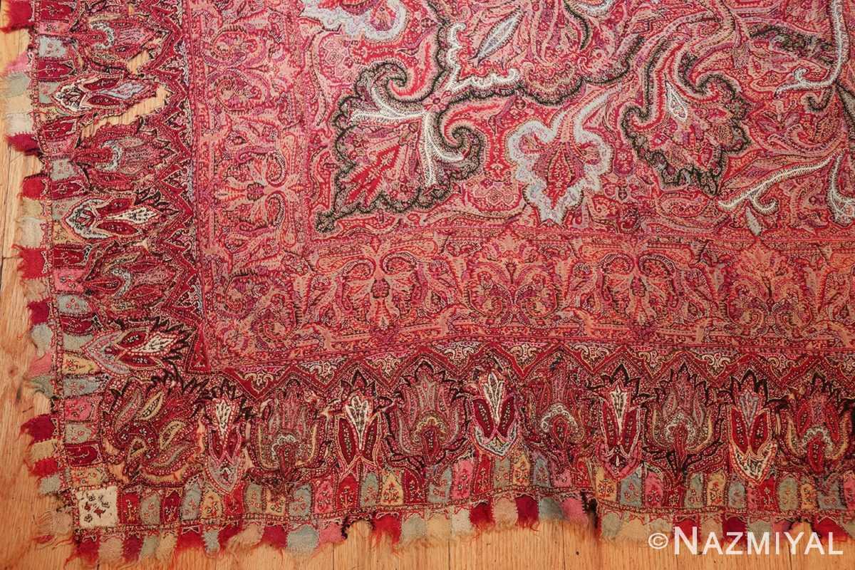 beautiful antique indian shawl 41481 detailed Nazmiyal