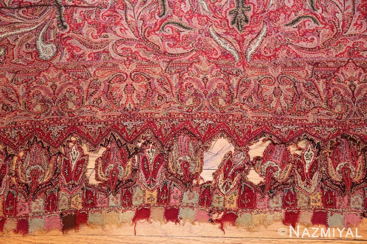 beautiful antique indian shawl 41481 ripped Nazmiyal
