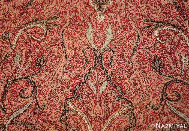 beautiful antique indian shawl 41481 scrolls Nazmiyal