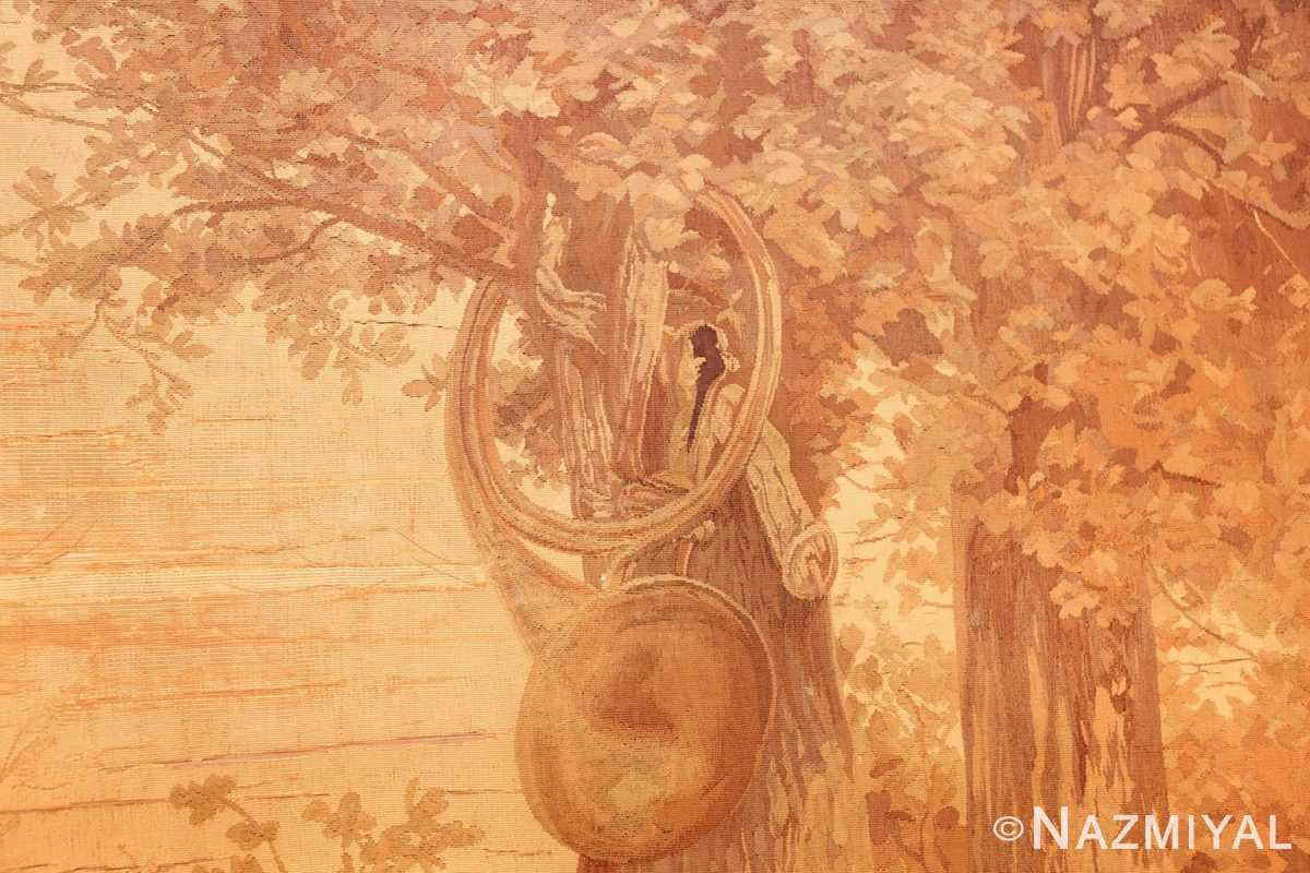 antique french dog tapestry rug 2069 tree Nazmiyal