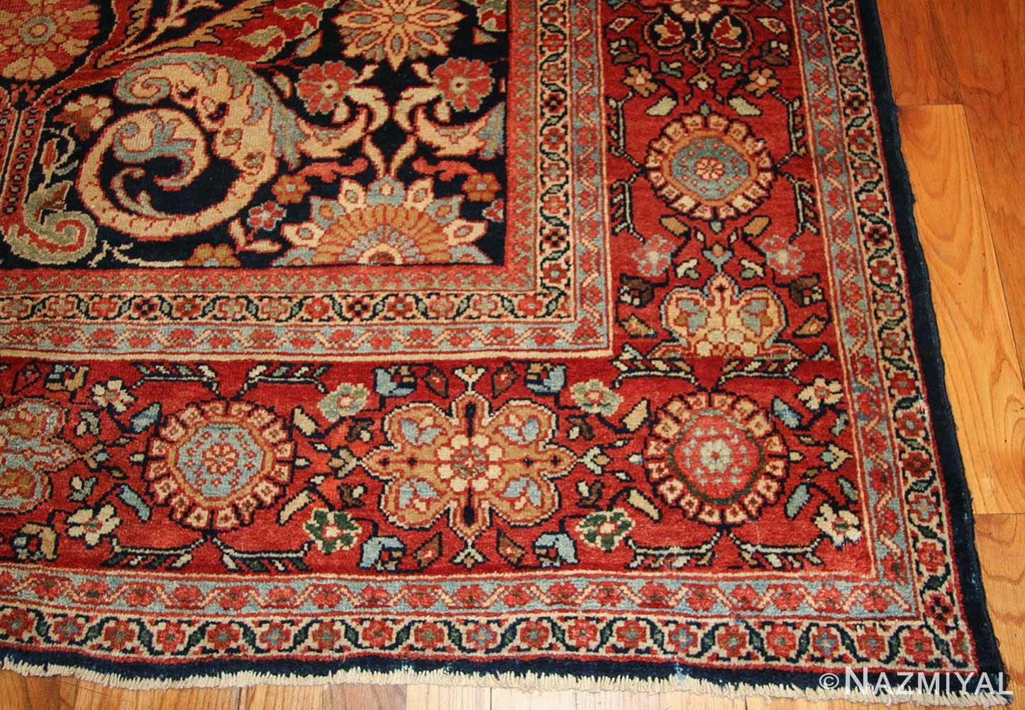 antique persian sultanabad rug 7997 corner Nazmiyal