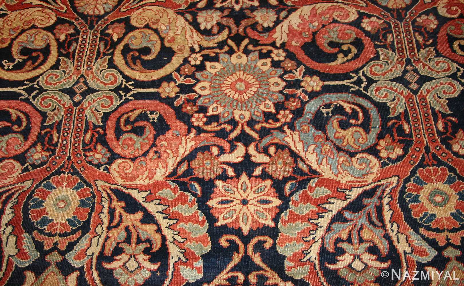 antique persian sultanabad rug 7997 design Nazmiyal