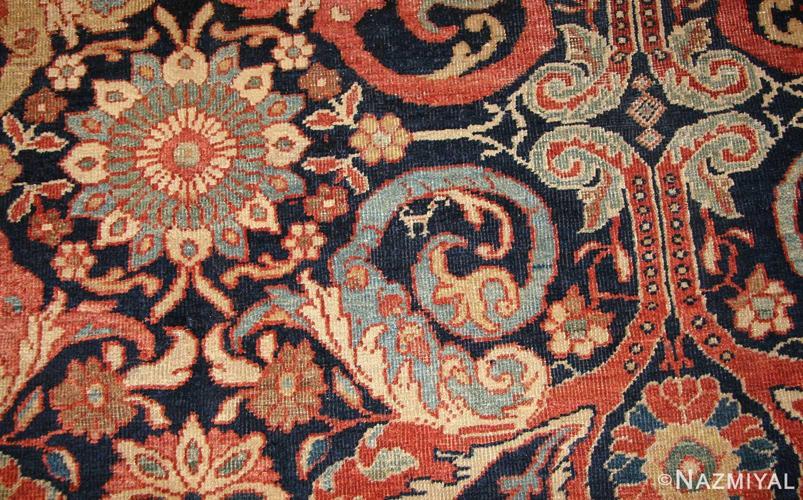 antique persian sultanabad rug 7997 field Nazmiyal