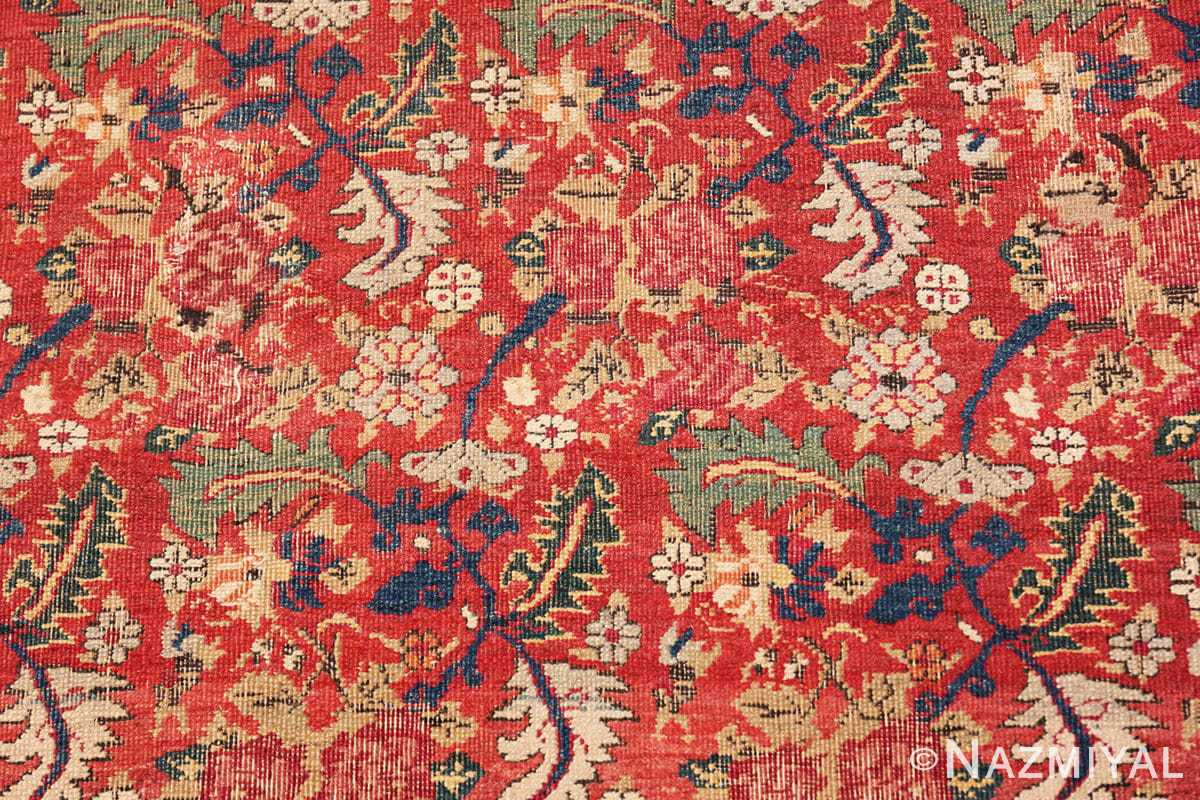 Background Small Scatter Size Red Antique Persian Kerman rug 1150 by Nazmiyal