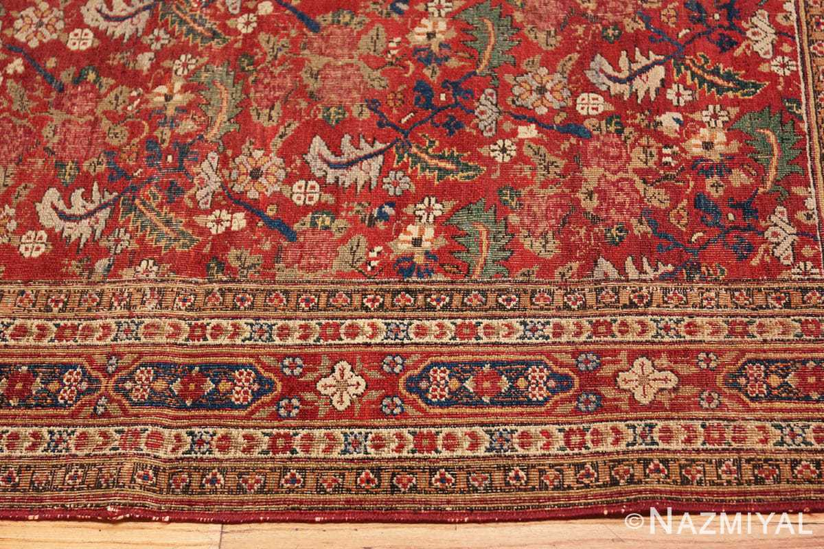 Border Small Scatter Size Red Antique Persian Kerman rug 1150 by Nazmiyal