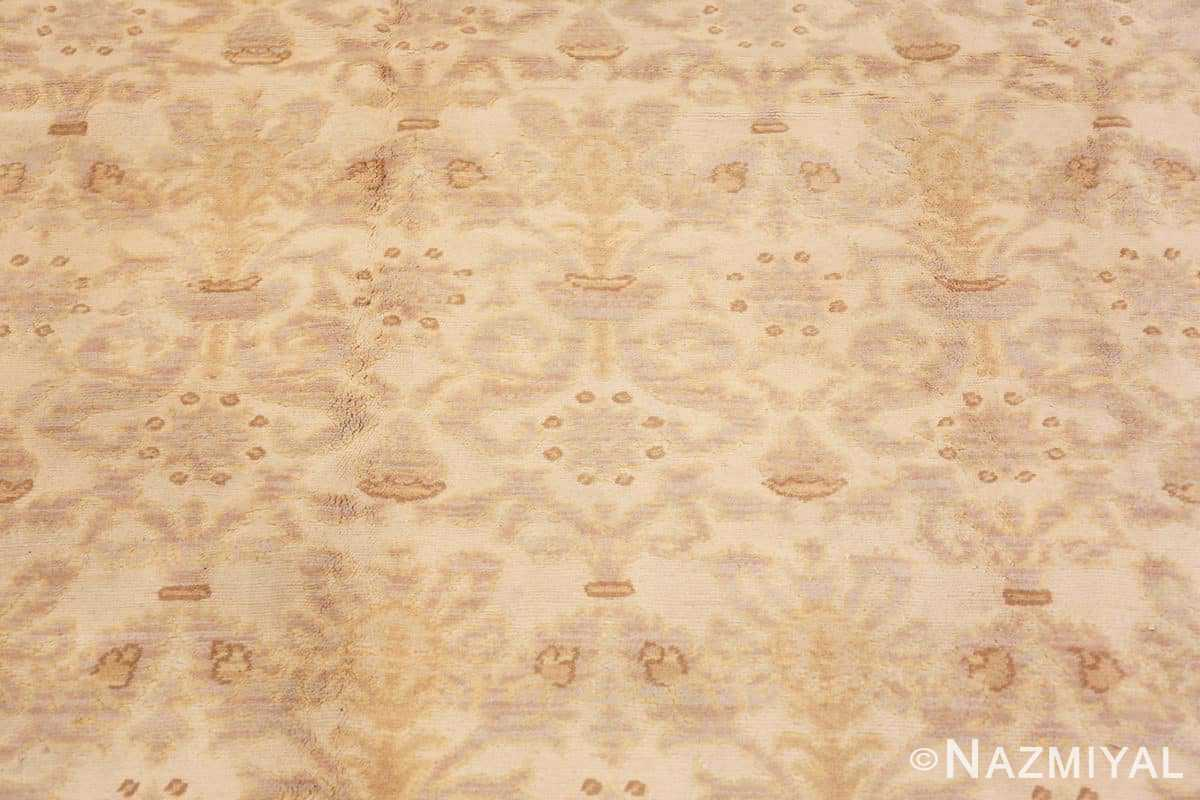 Close-up Decorative room size Antique Spanish carpet 2678 by Nazmiyal