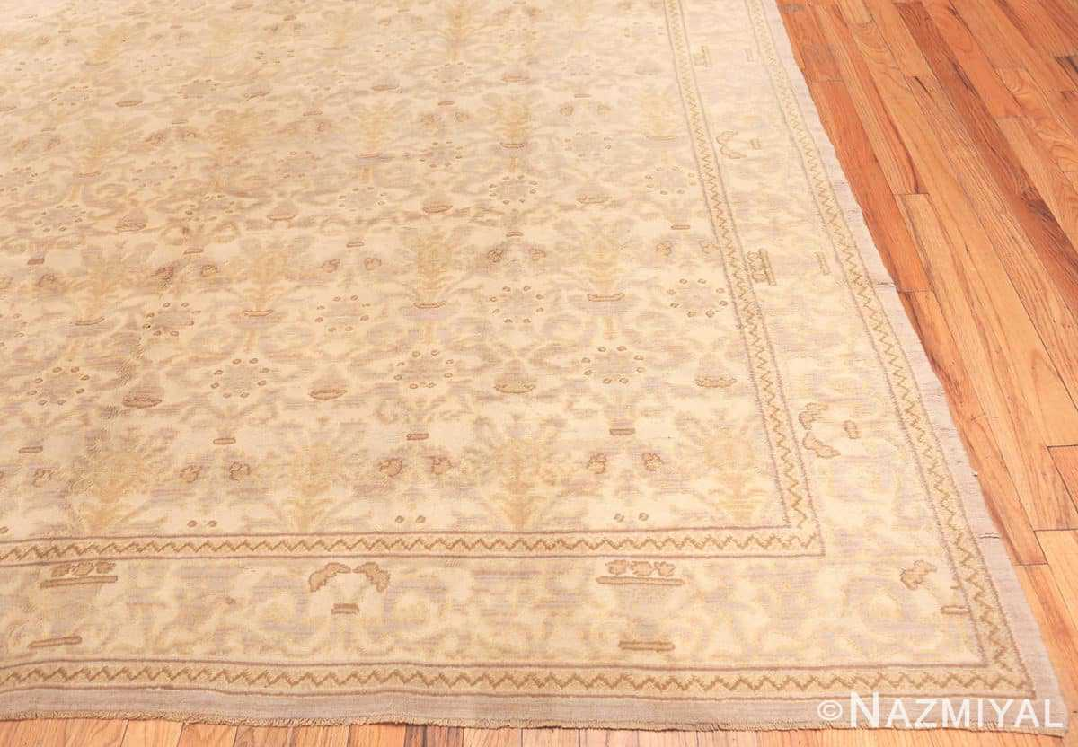 Corner Decorative room size Antique Spanish carpet 2678 by Nazmiyal
