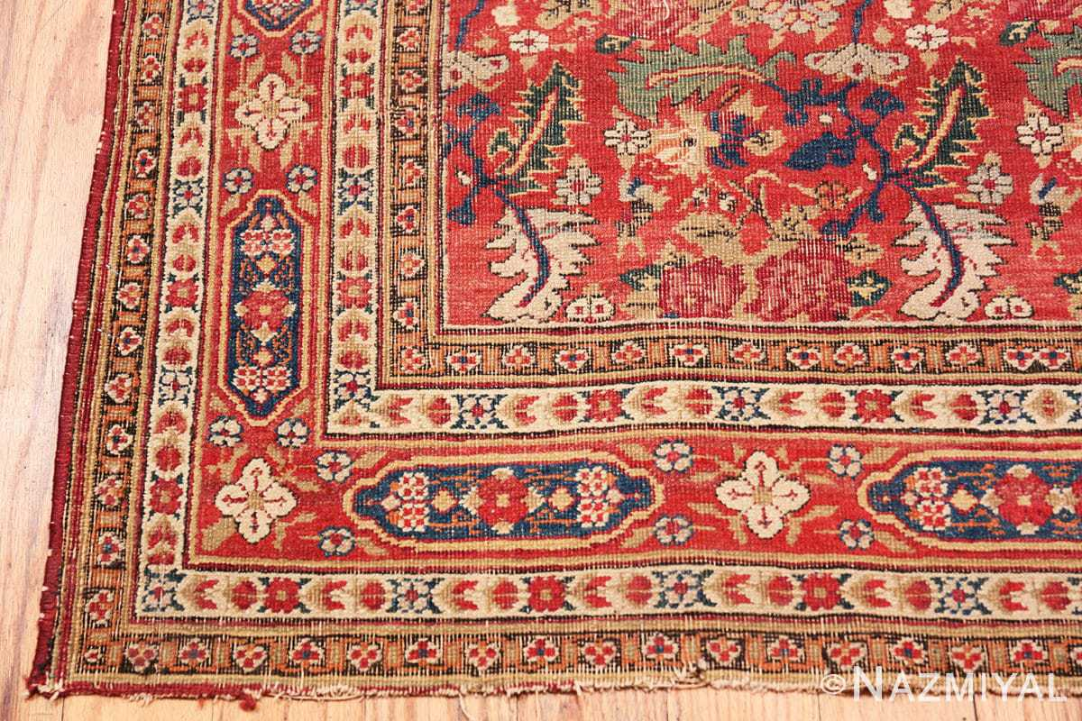 Corner Small Scatter Size Red Antique Persian Kerman rug 1150 by Nazmiyal
