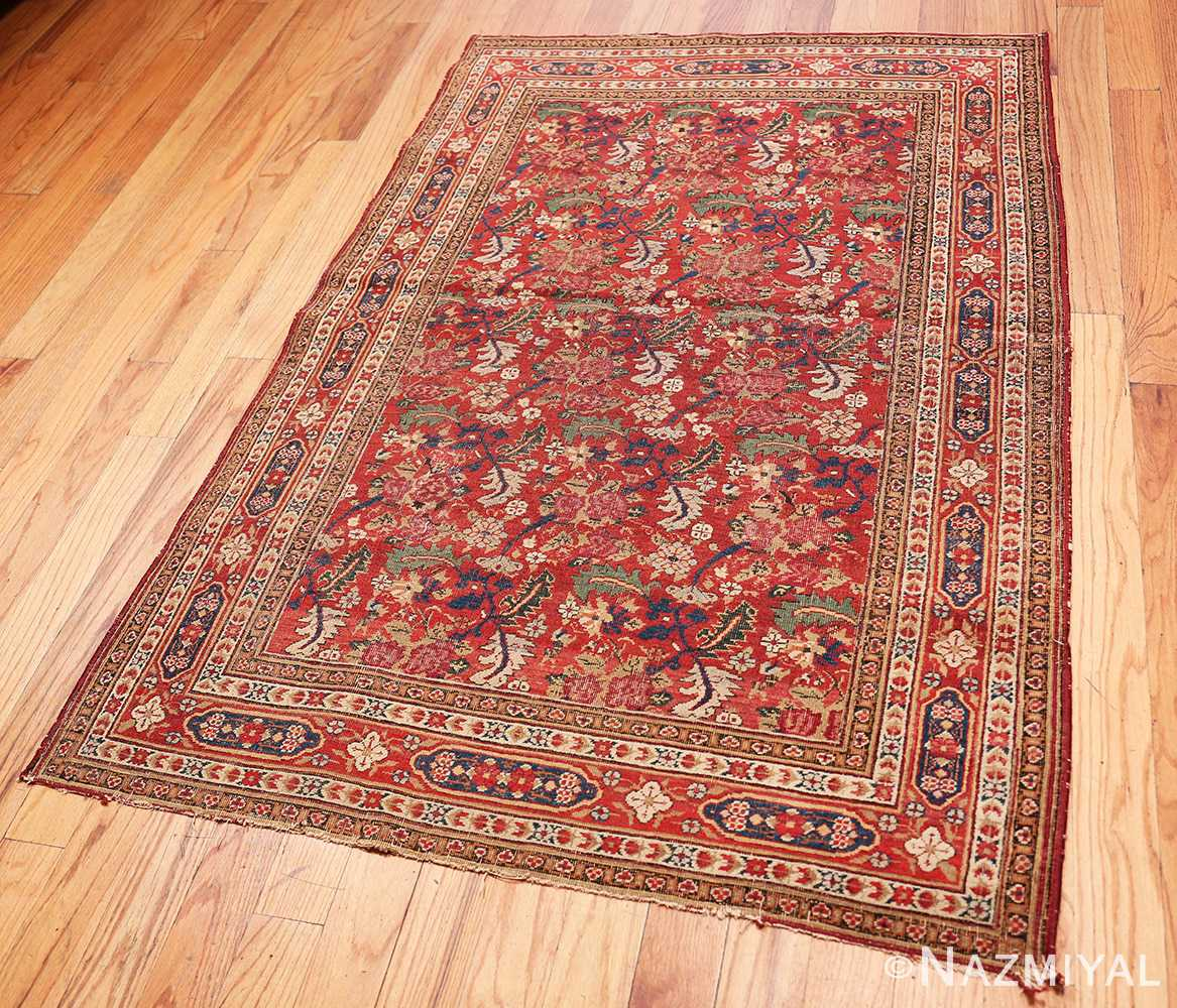 Full Small Scatter Size Red Antique Persian Kerman rug 1150 by Nazmiyal