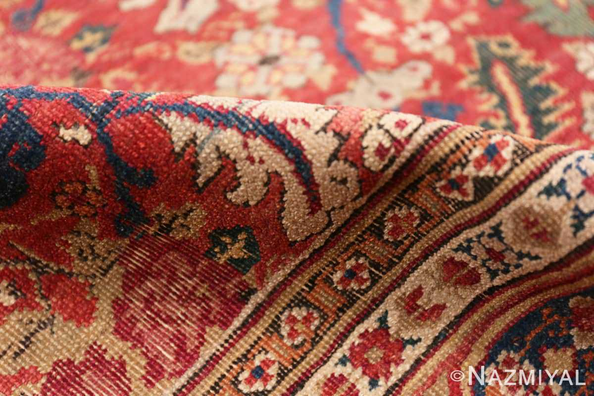 Pile Small Scatter Size Red Antique Persian Kerman rug 1150 by Nazmiyal